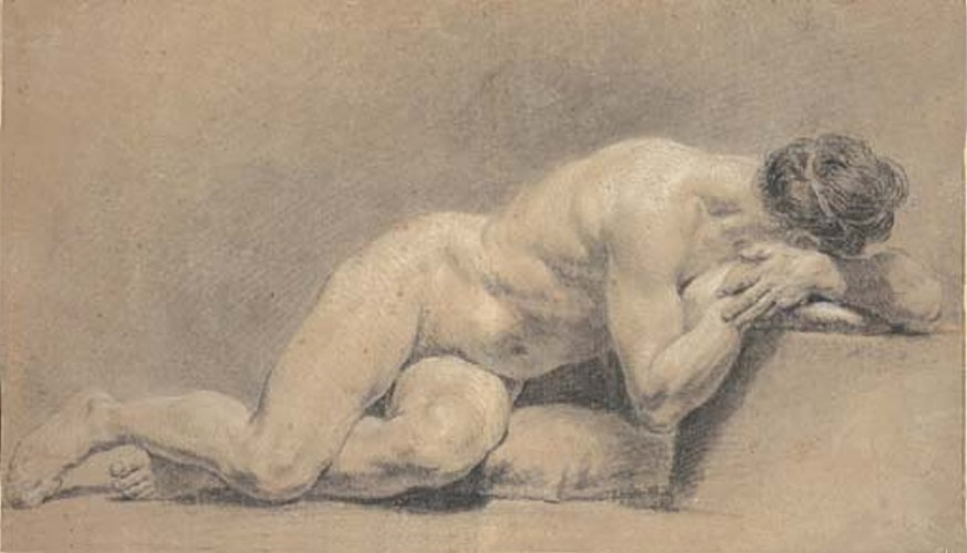 Academic Male Nude Lying Down
