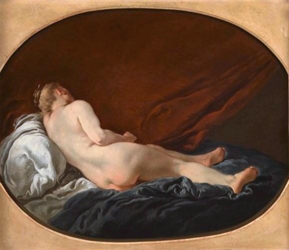 Francois van Loo - Reclining Female