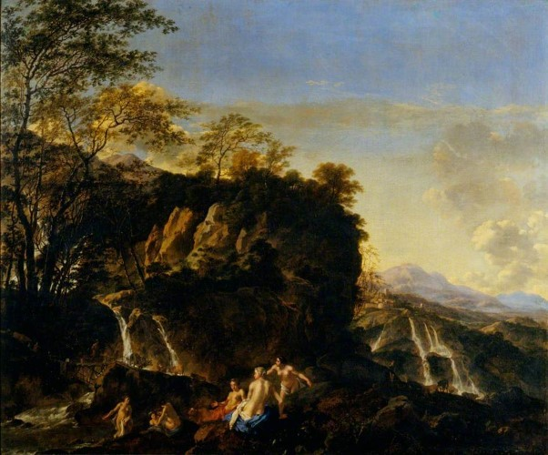 Landscape with Nymphs Bathing