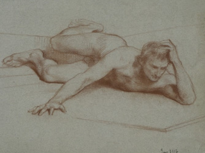 Male Nude Lying Down